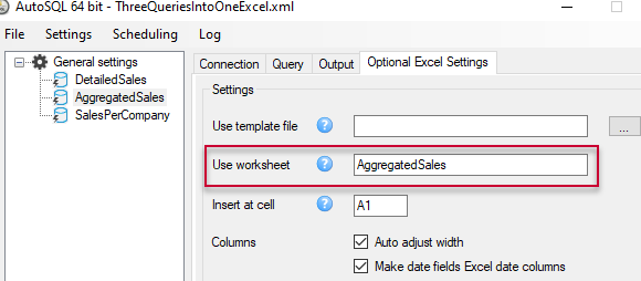 Select a different worksheet